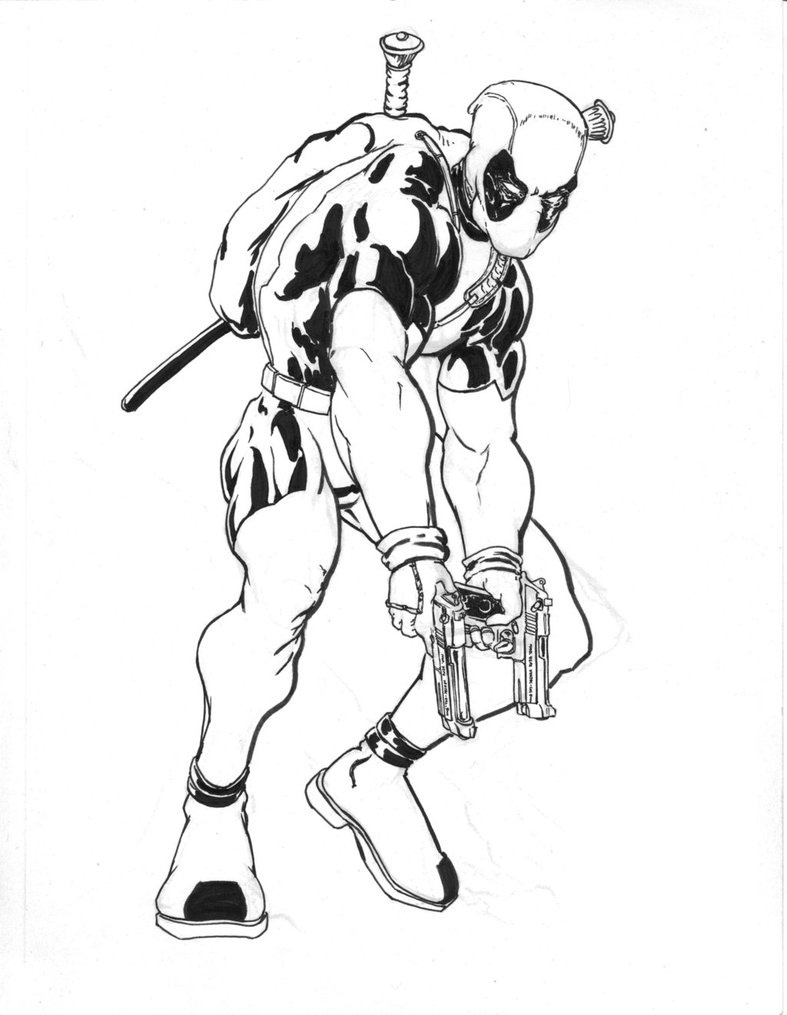 Deadpool Coloring Pages Images