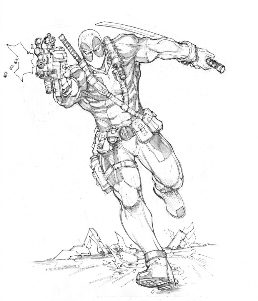 Deadpool Coloring Pages Photos