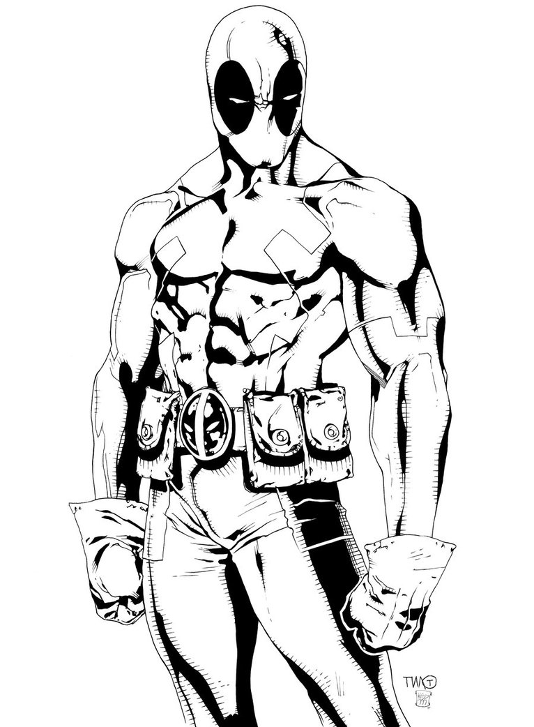 deadpool coloring movie scene coloring pages