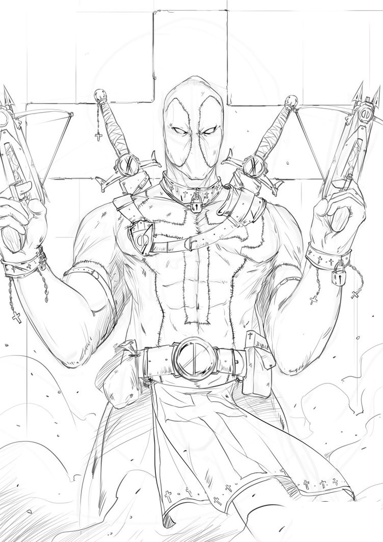 small deadpool coloring pages coloring pages