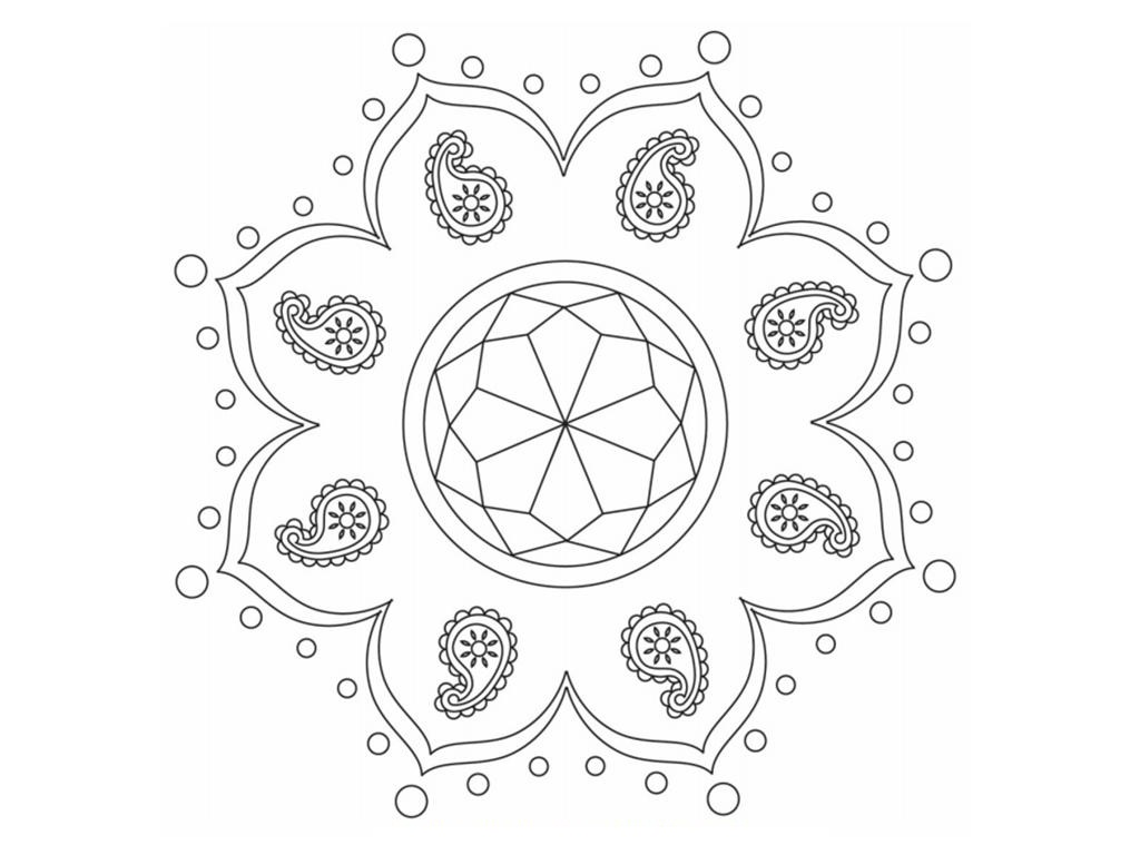 Colouring pages with colour - Download Free Printable Rangoli Coloring Pages