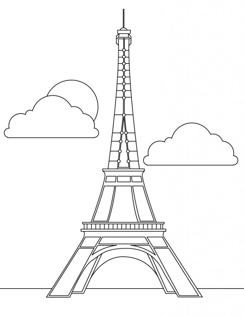 Ifle Tower Coloring Pages Coloring Pages
