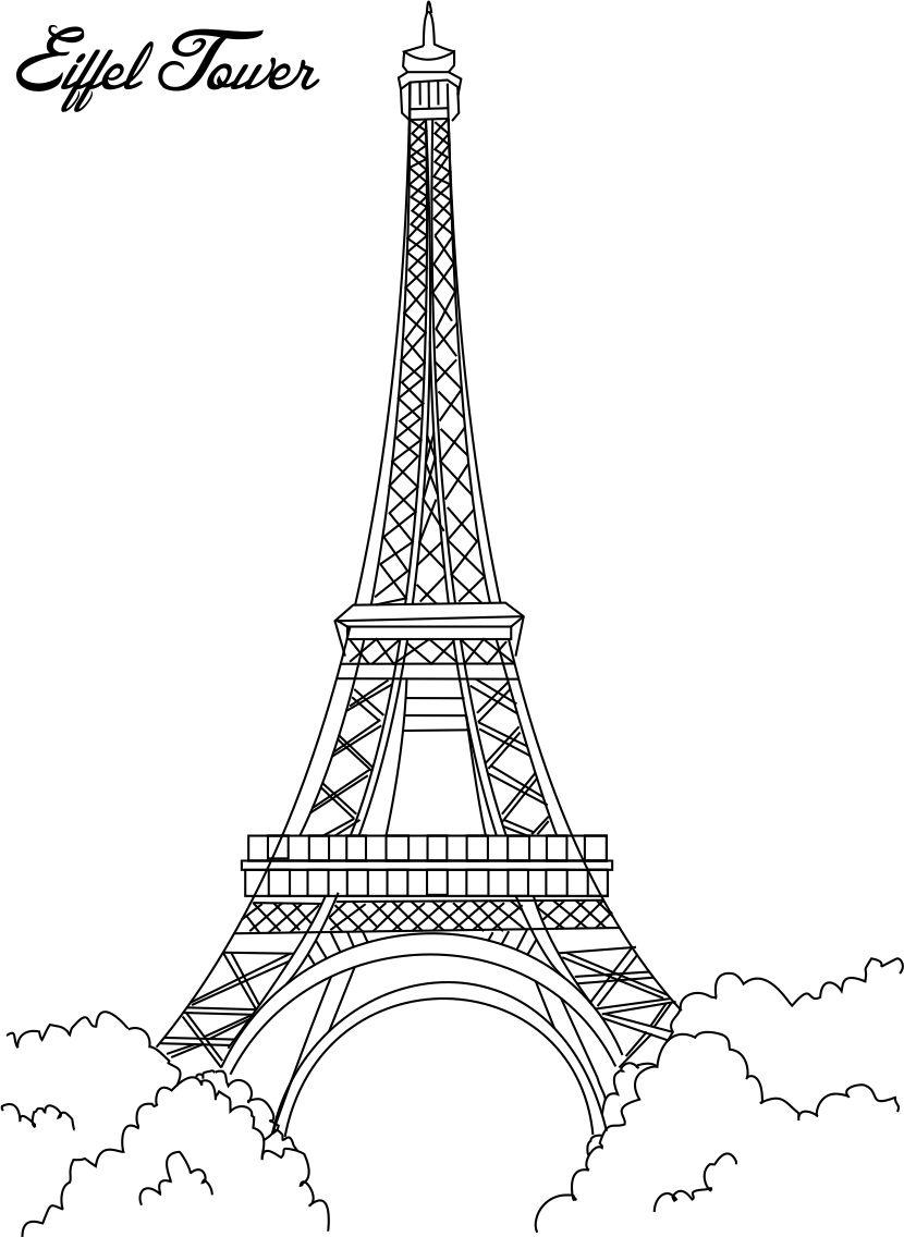 Free coloring pages eiffel tower - Eiffel Tower Coloring Pages For Kids