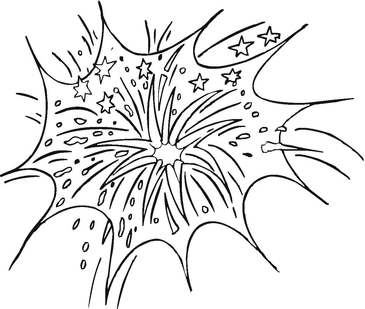 Ordinaire Fireworks Coloring Pages Free Printable