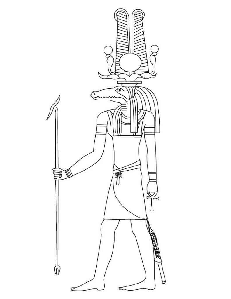 Free Ancient Egypt Coloring Pages For Kids