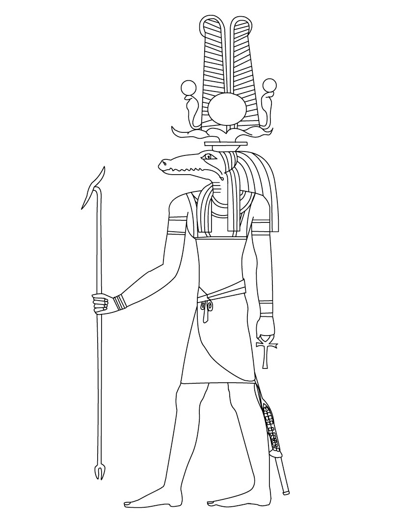 ancient egyptian coloring pages - photo#36