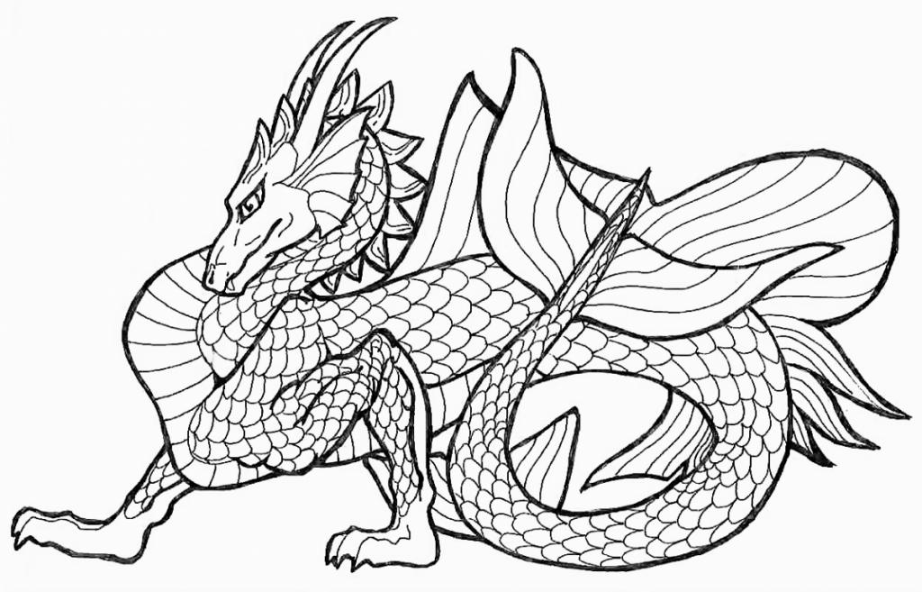Free Printable Chinese Dragon Coloring