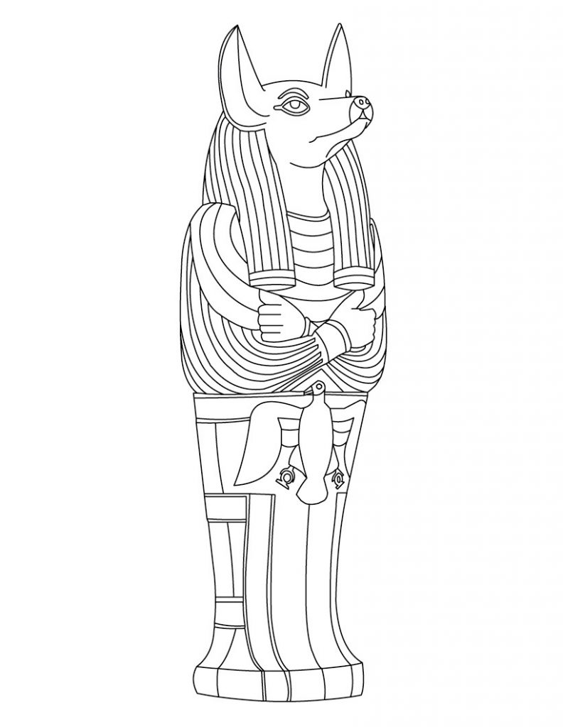 Free Coloring Pages OF Ancient Egypt
