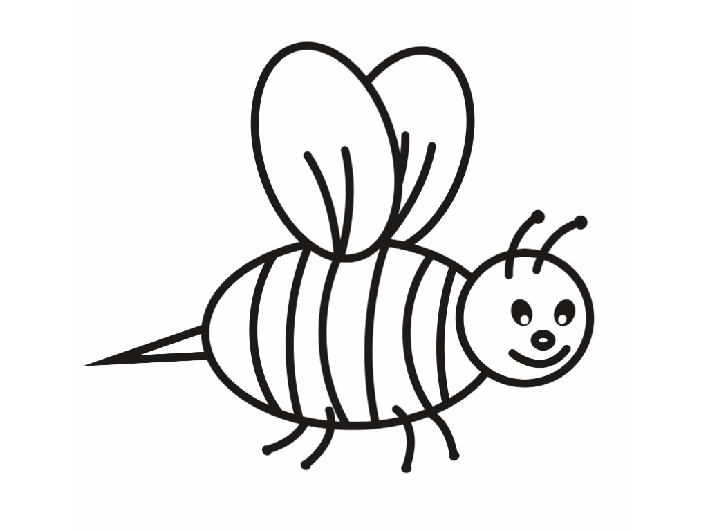 free bee coloring pages - photo#3