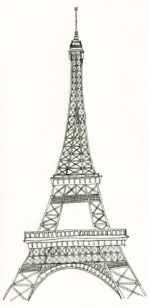 Free Coloring Pages of Eiffel Tower