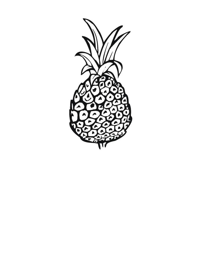 Free Printable Pineapple Coloring