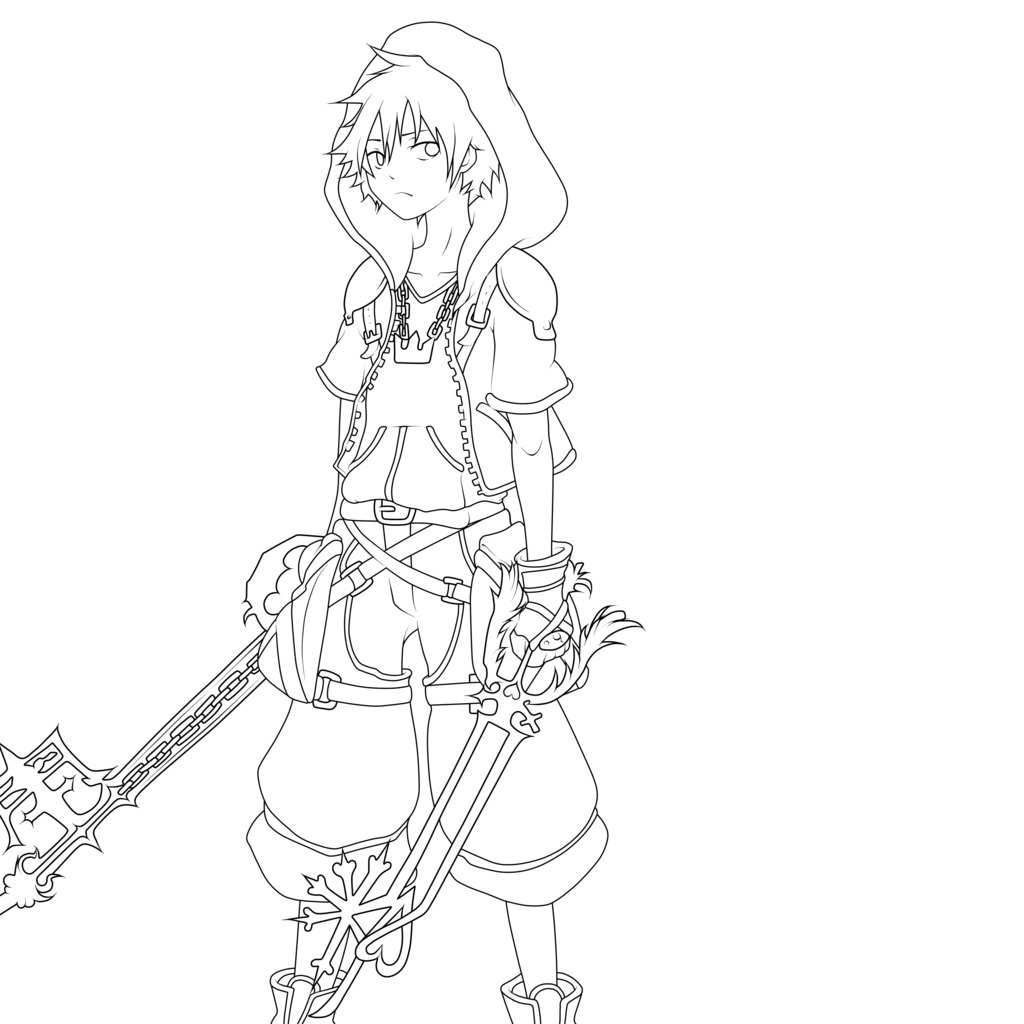 Coloring pages kingdom hearts