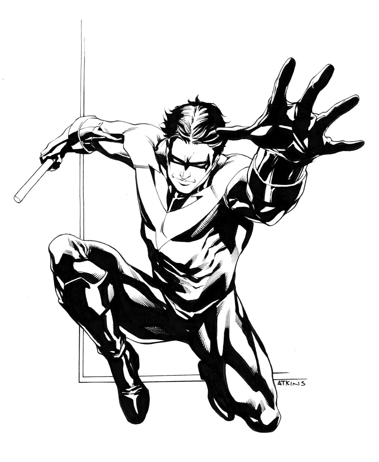 free nightwing coloring pages - Nightwing Coloring Pages