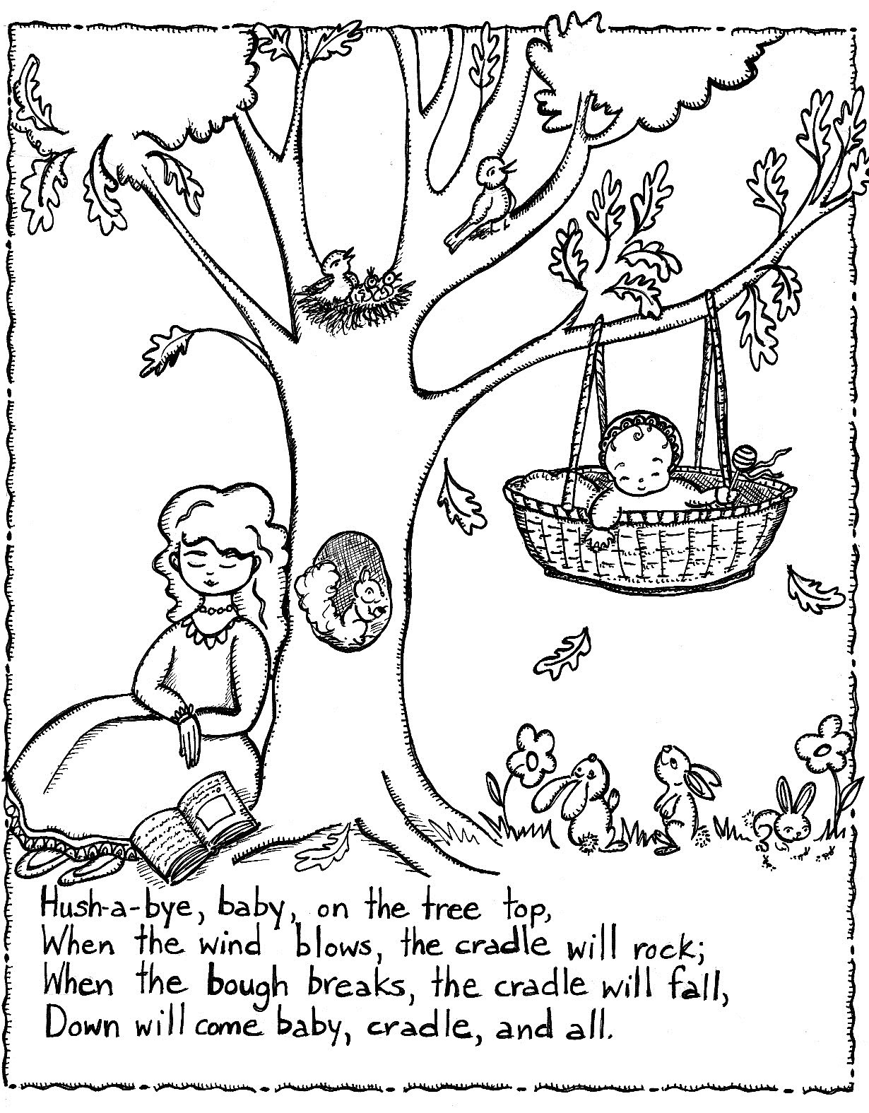 Printable Nursery Rhymes Coloring Pages For Kids