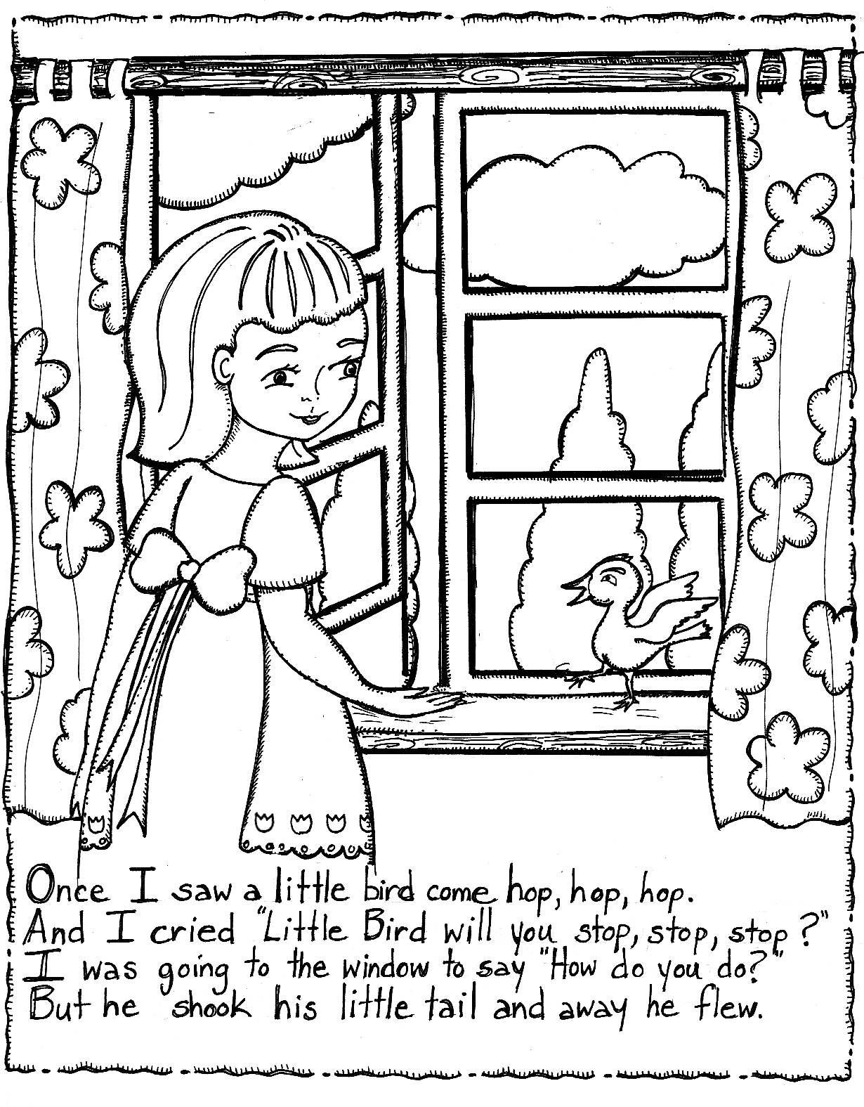 free nursery rhymes coloring pages - photo#11