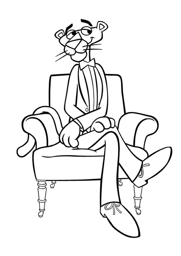 free pink panther coloring pages