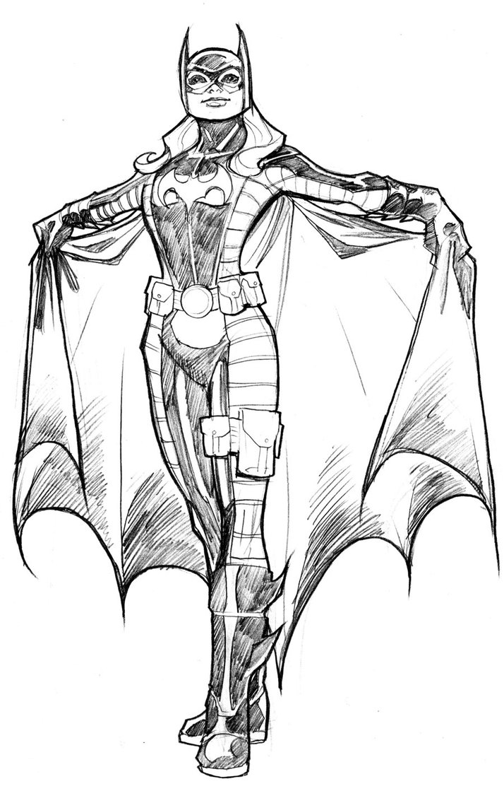 Free printable batgirl coloring pages for kids for Printable bat coloring pages