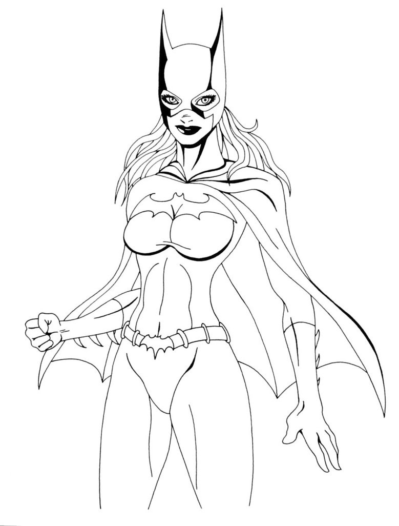 comic book character coloring pages - photo#35