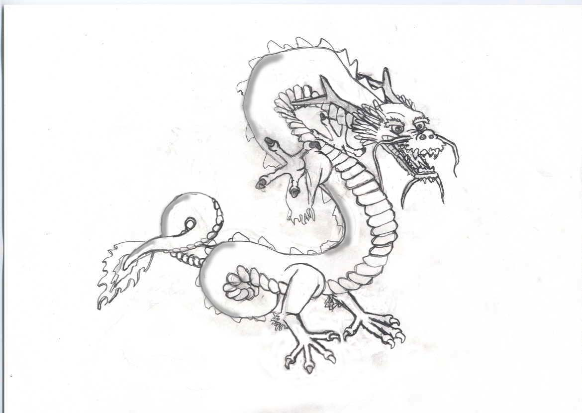 chinesse dragon coloring pages - photo#15