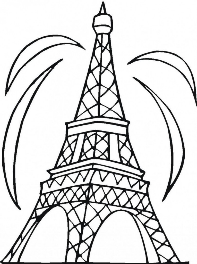 Free Printable Eiffel Tower Coloring Pages