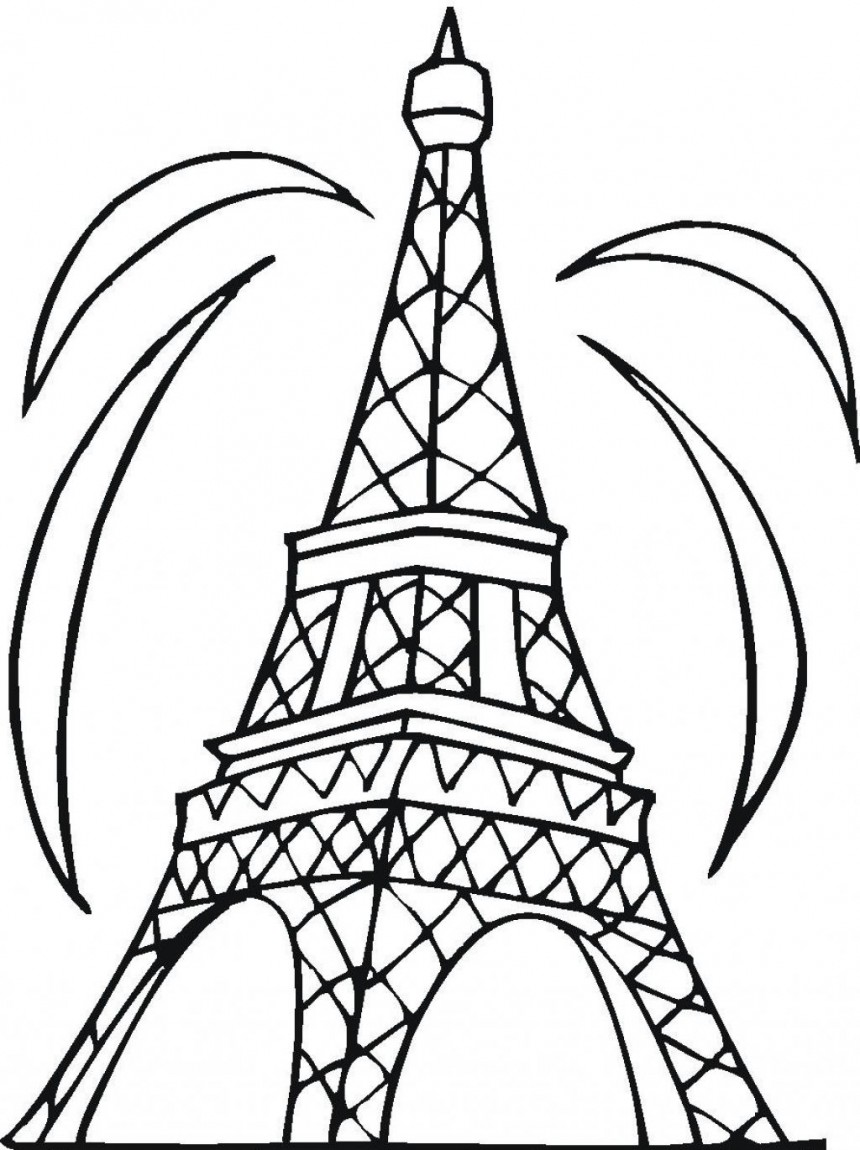 Free coloring pages eiffel tower - Free Printable Eiffel Tower Coloring Pages