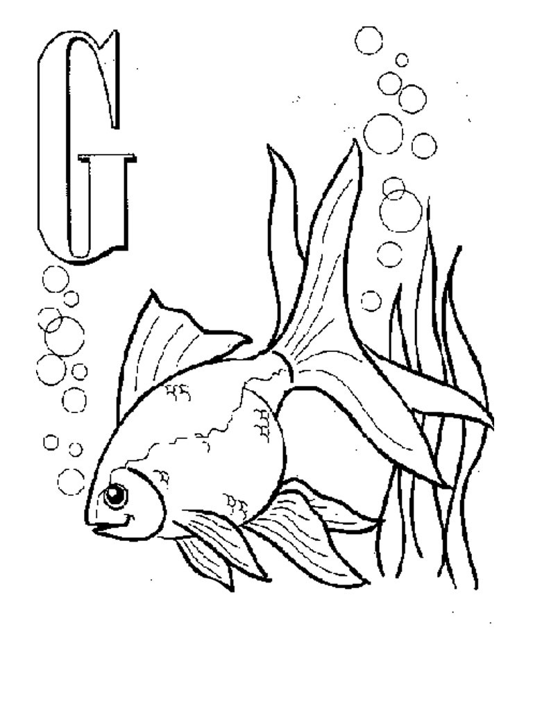 Free Printable Goldfish Coloring