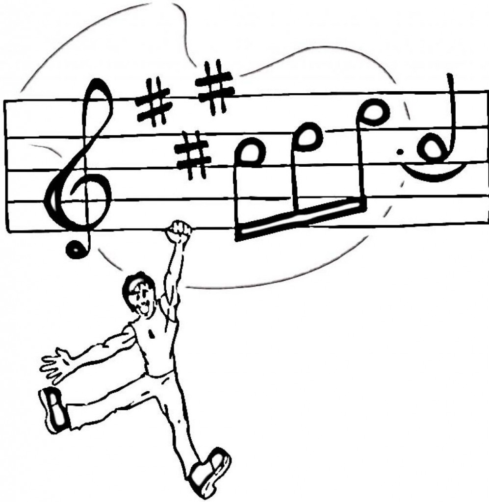 music coloring pages free printable - photo#23