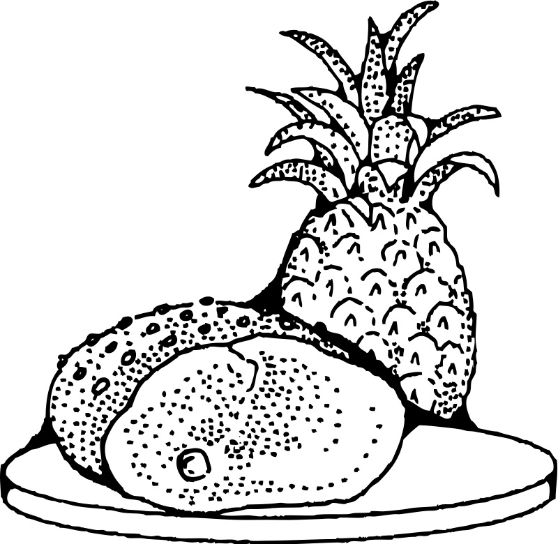 Free Printable Pineapple Coloring Pages