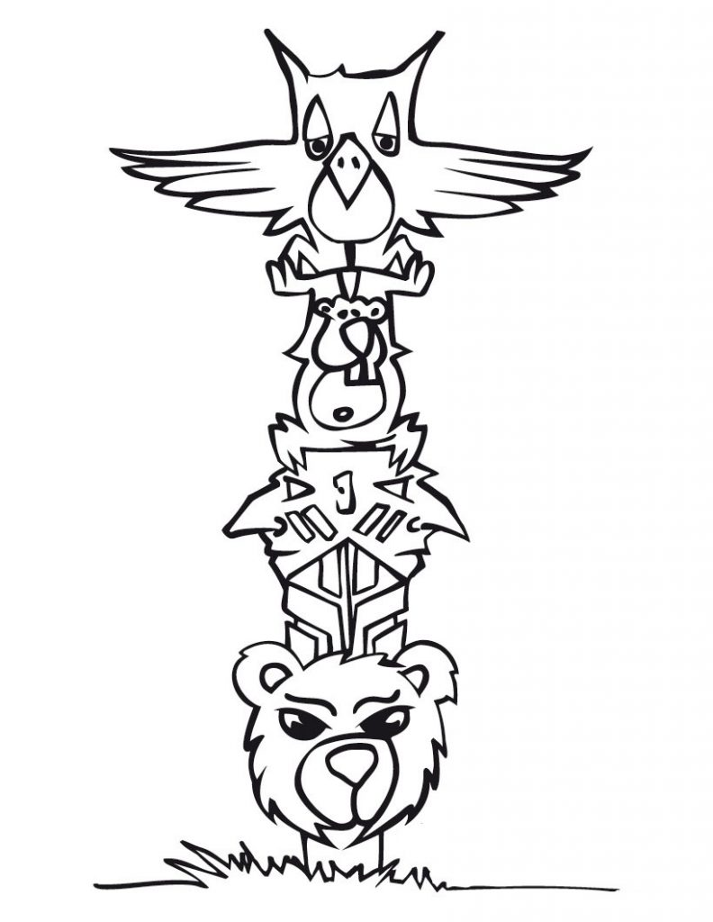 Free Printable Totem Pole Coloring Pages