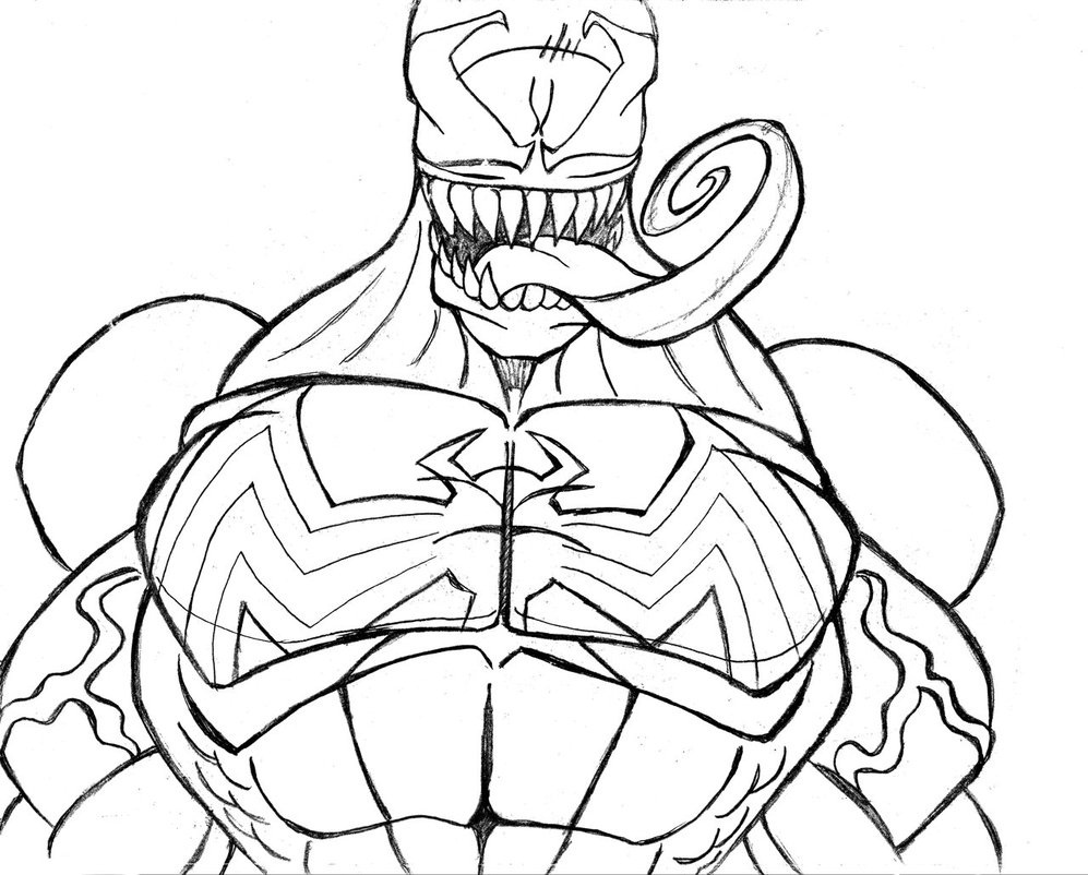Coloring pages venom - Free Printable Venom Coloring Pages