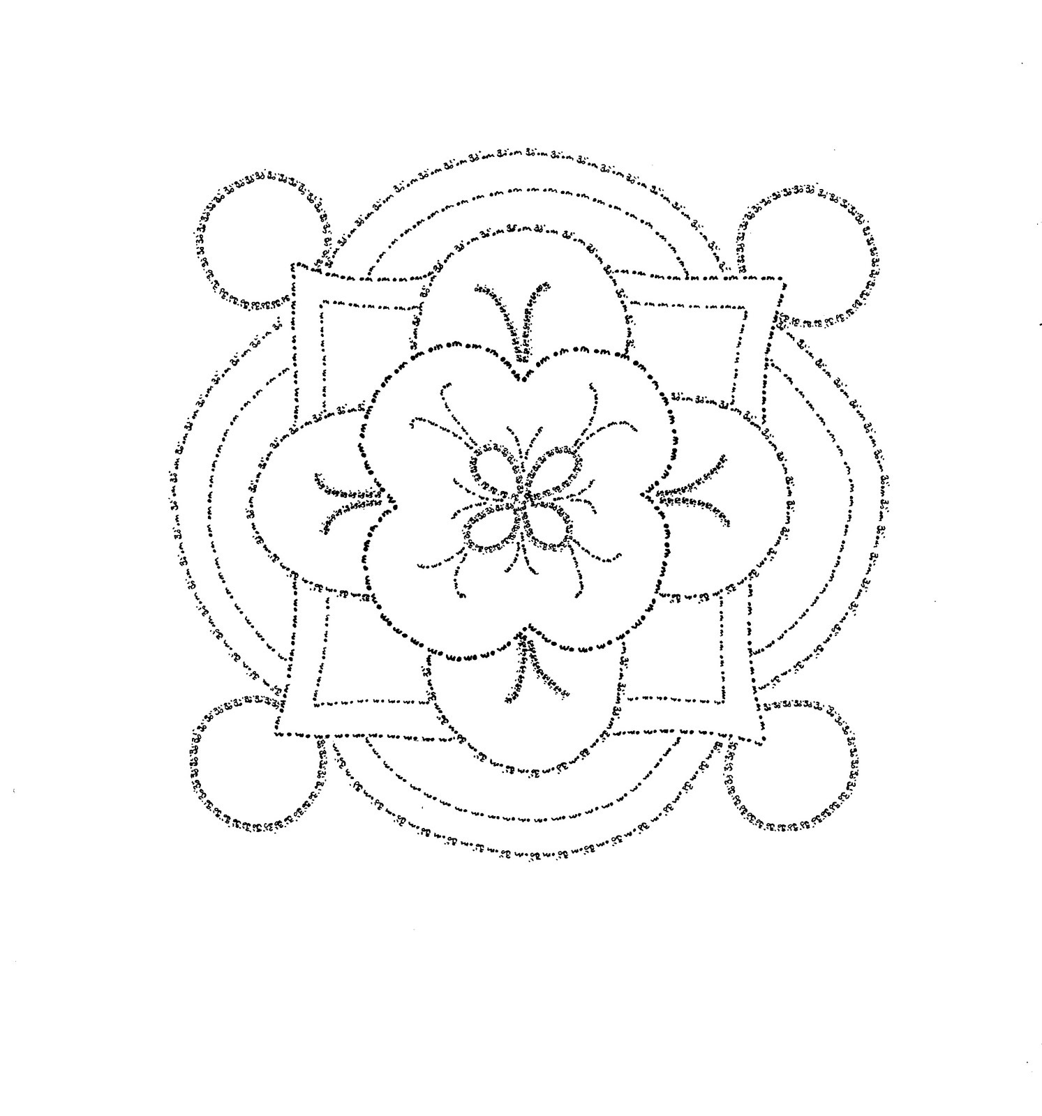 Free Coloring Pages Of Rangoli Pattern Rangoli Designs Printable Coloring Pages