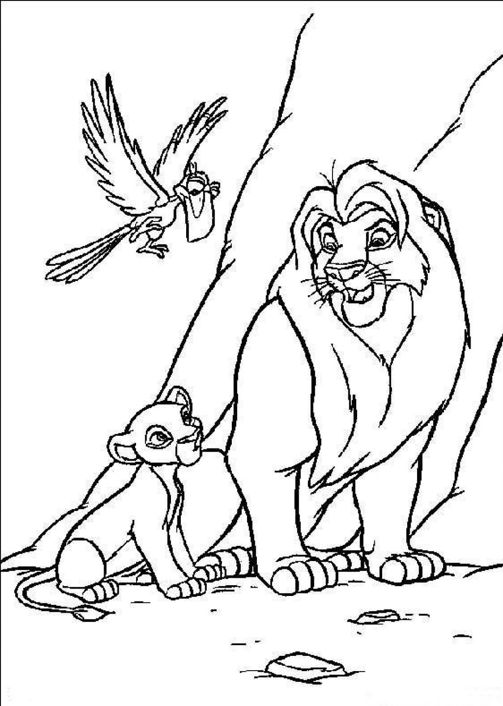 lion king coloring pages mufasa and simba