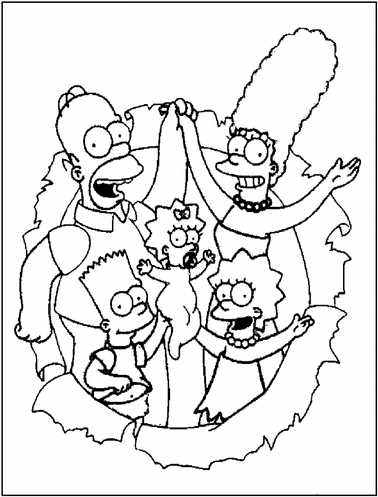 Free Printable Simpsons Coloring Pages For Kids Free Coloring Pages To Print