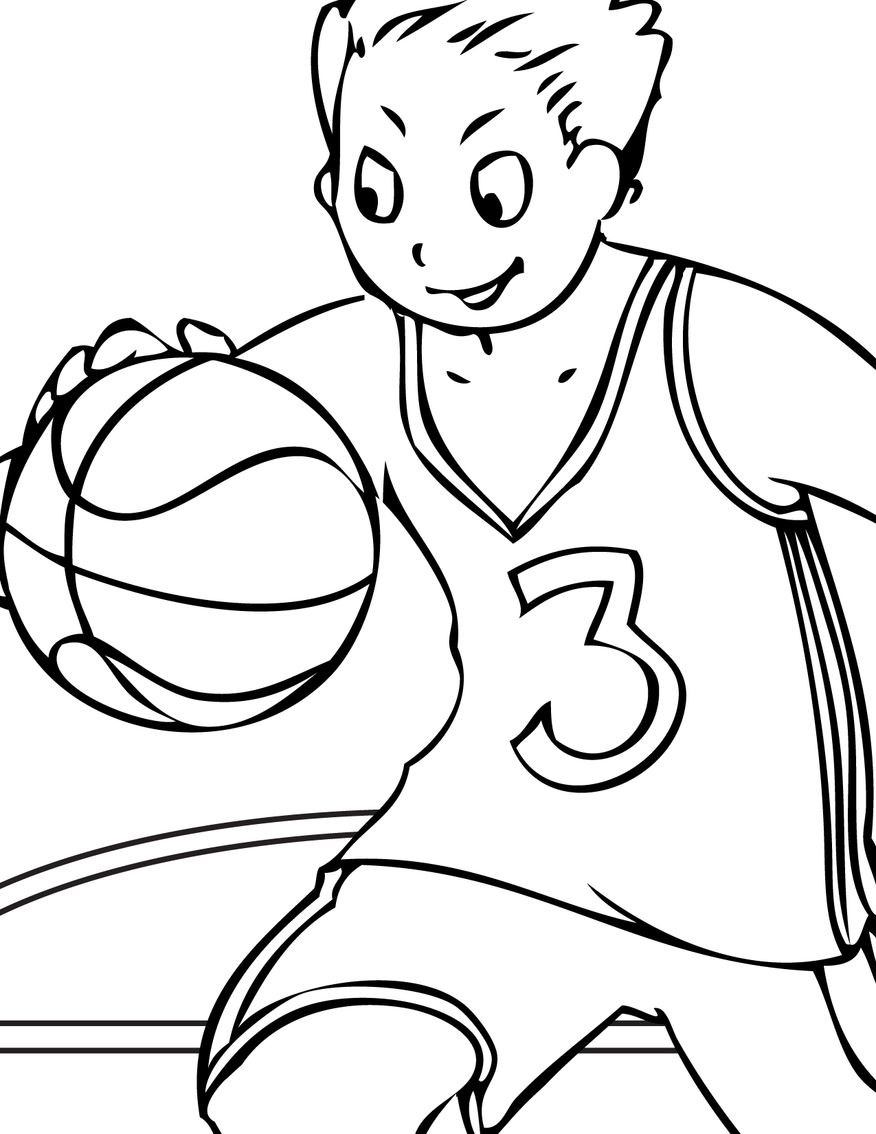 Coloring Pages For Kids Printable : Free printable volleyball coloring pages for kids