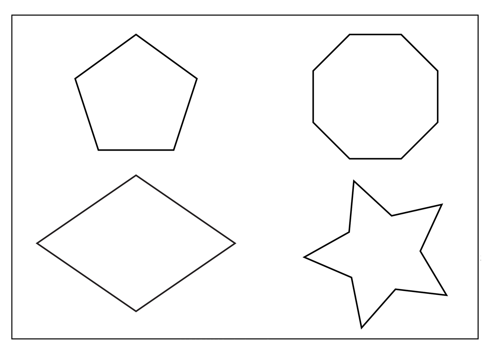 coloring pages of different shapes - photo#4