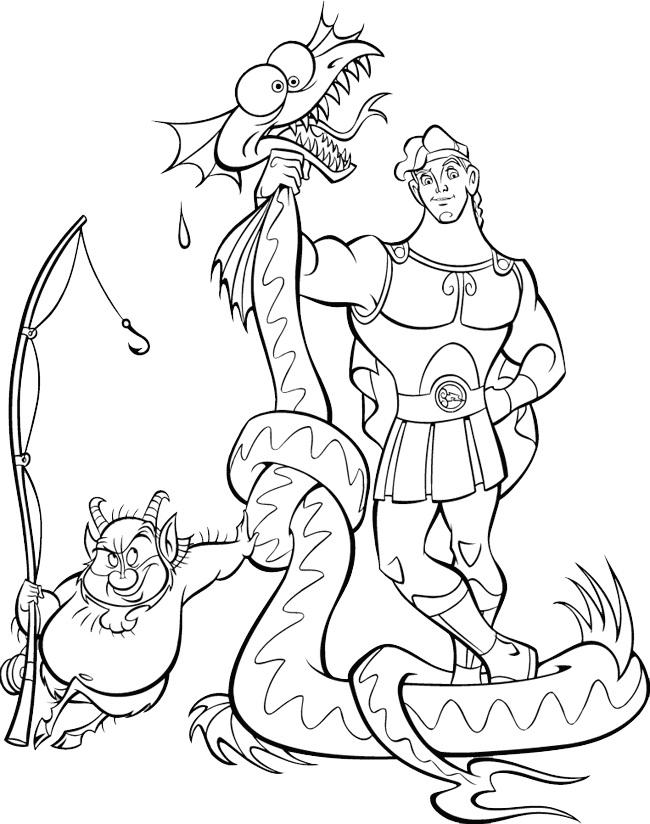 Coloring Pages Disney Hercules : Free printable hercules coloring pages for kids