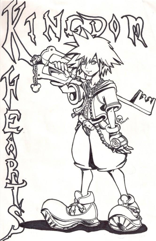 Free Printable Kingdom Hearts Coloring