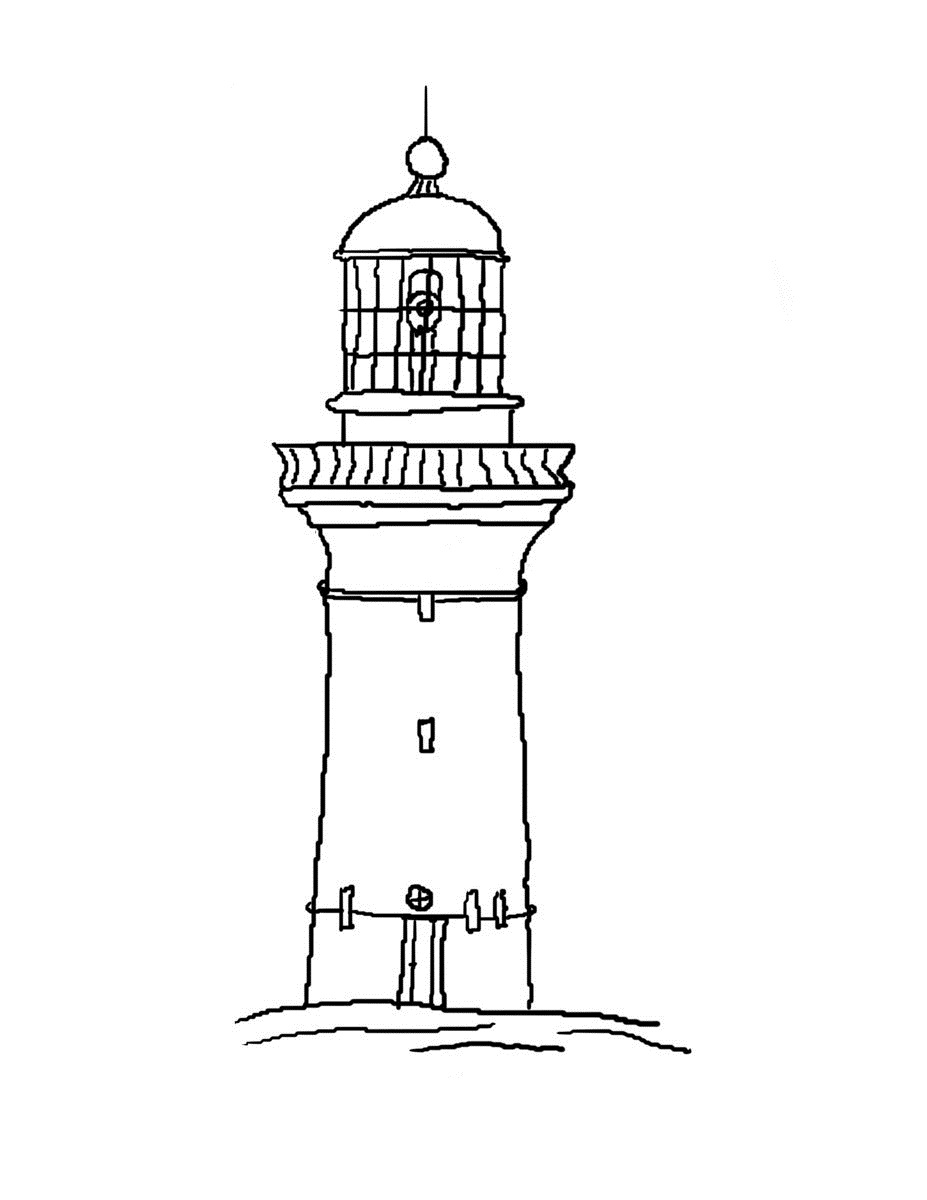 coloring pages lighthouse - photo#24