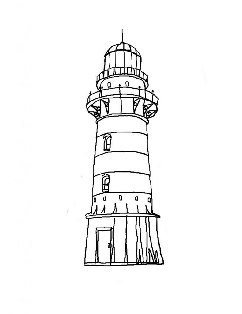 Line Art Lighthouse : Free printable lighthouse coloring pages for kids
