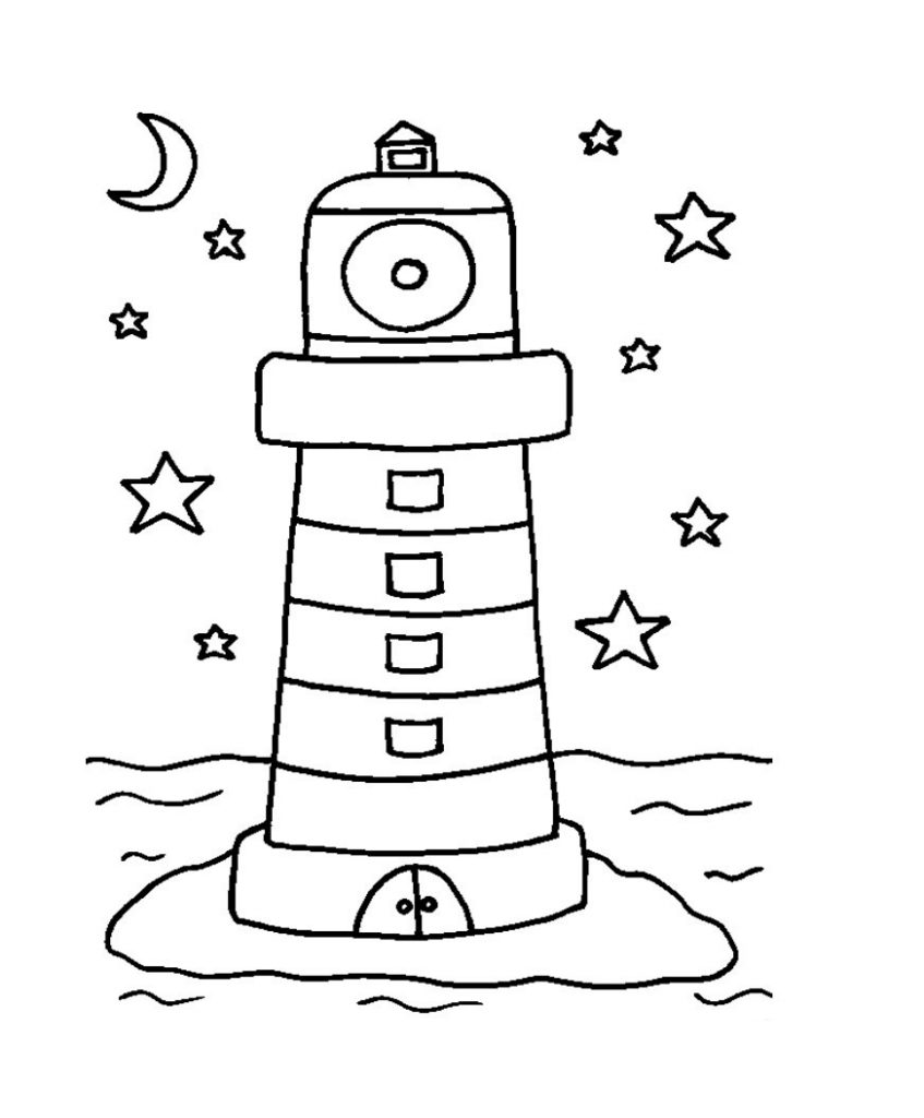 Lighthouse Coloring Page For Kids