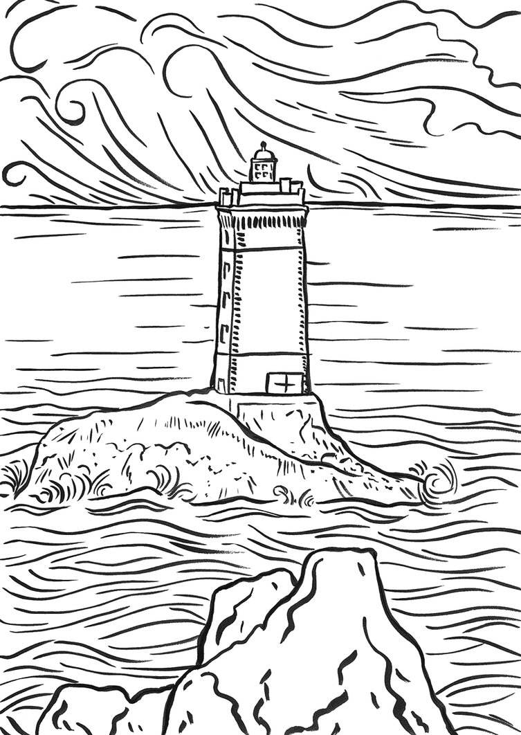 coloring pages lighthouse - photo#4