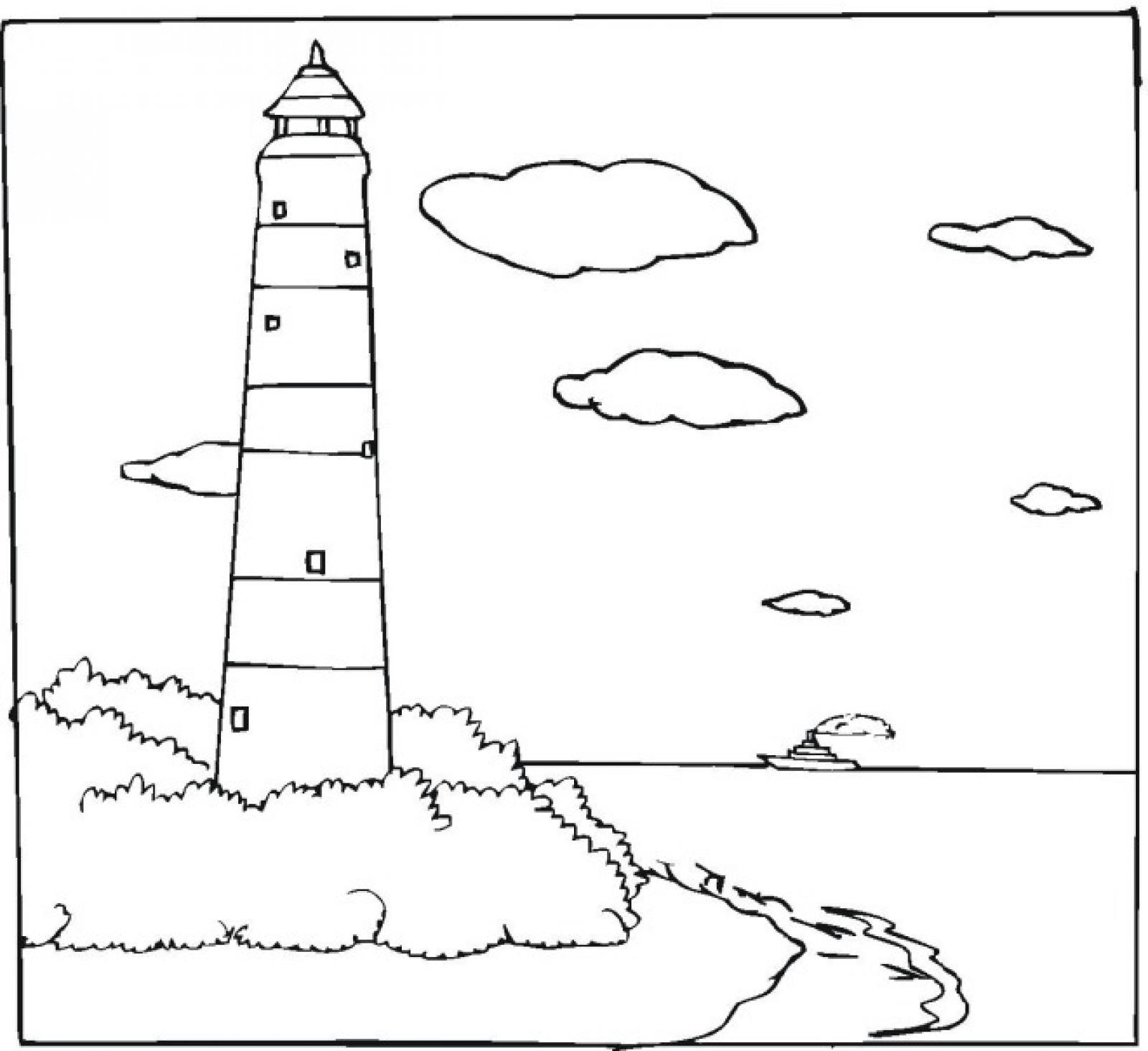 lighthouse coloring page photos