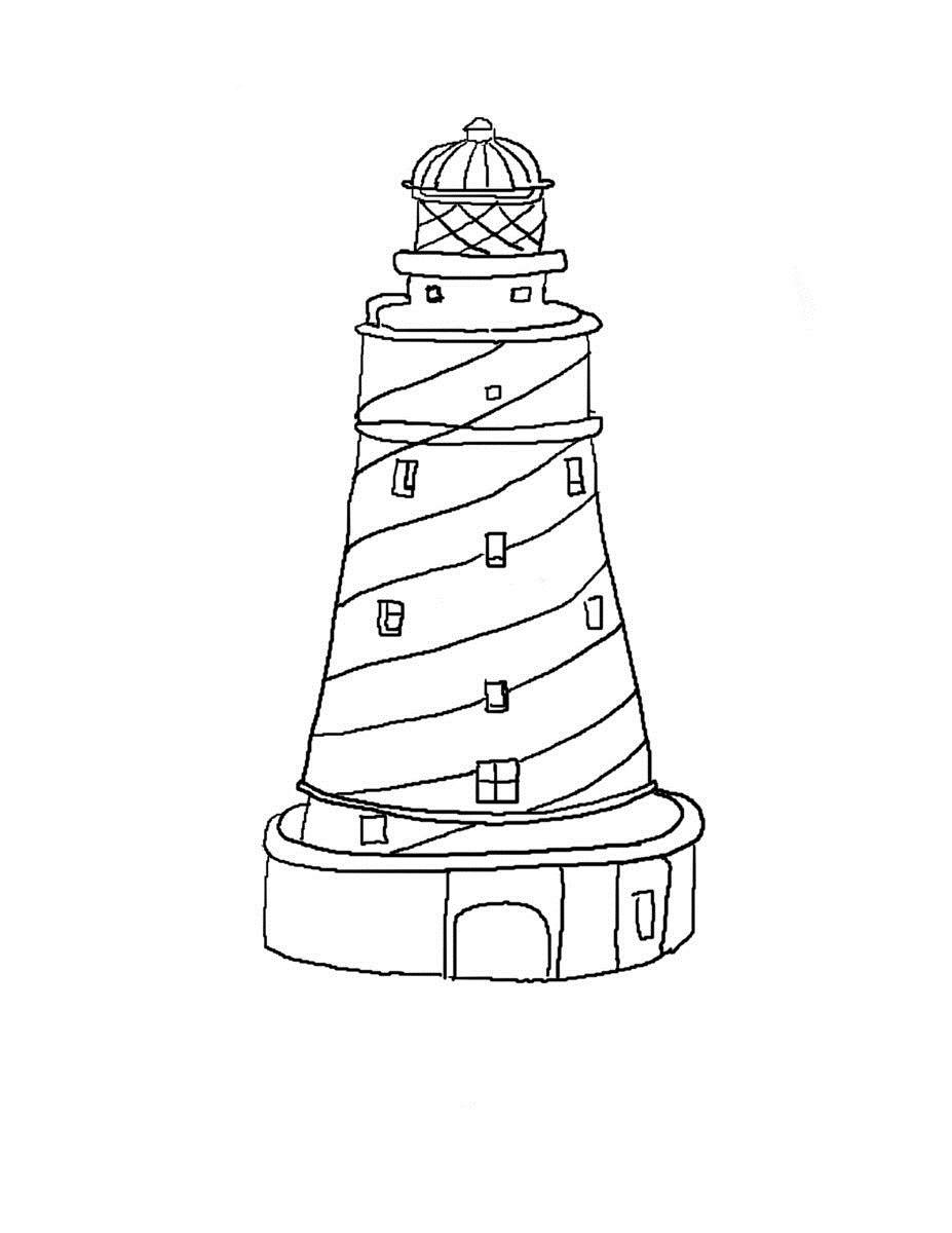 coloring pages lighthouse - photo#3