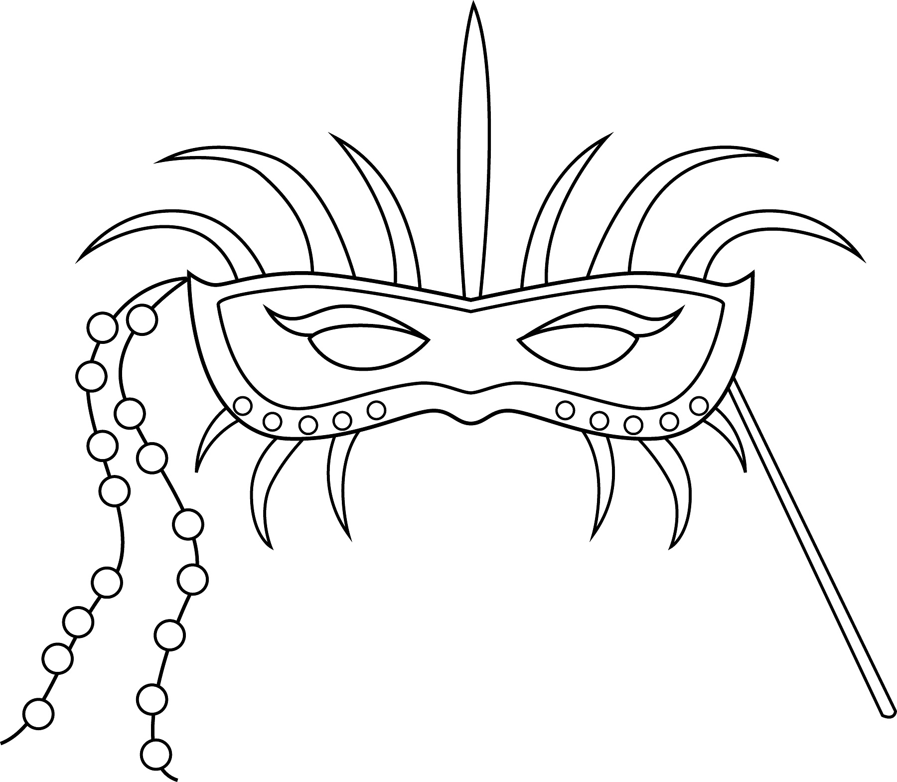 Free Printable Mask Coloring Pages For Kids – Mask Templates for Adults