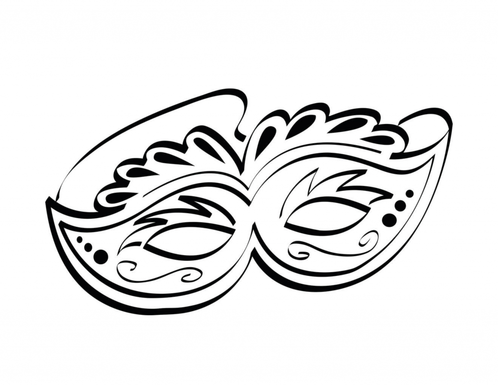 Mask Coloring Pages For Kids