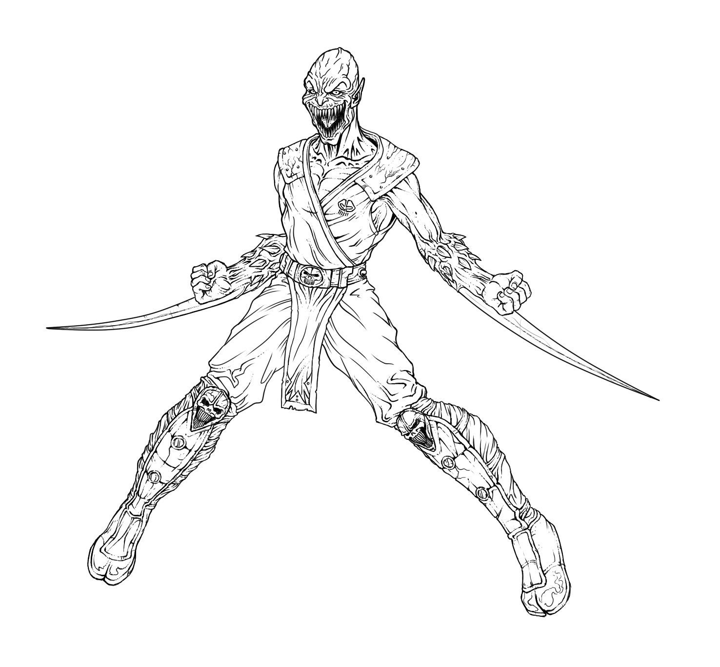 mortal kombat coloring pages photos