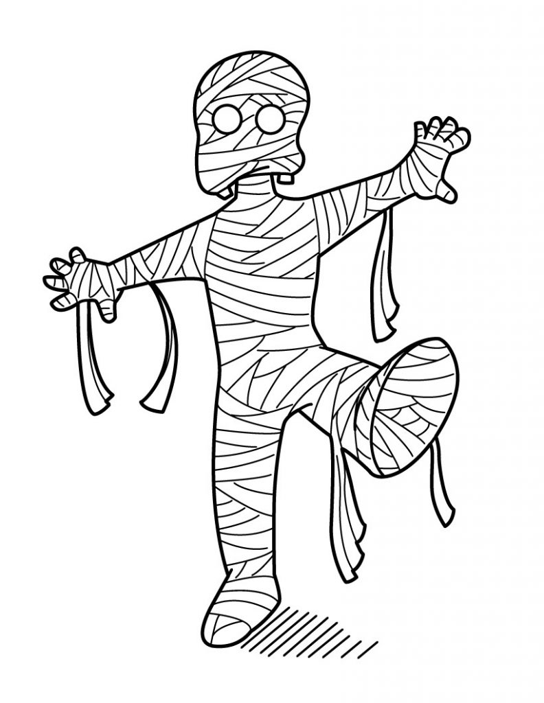 halloween mummy coloring pages - photo#1