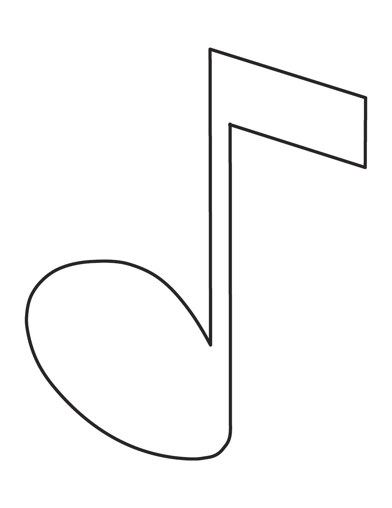 music note coloring page - Music Notes Coloring Pages