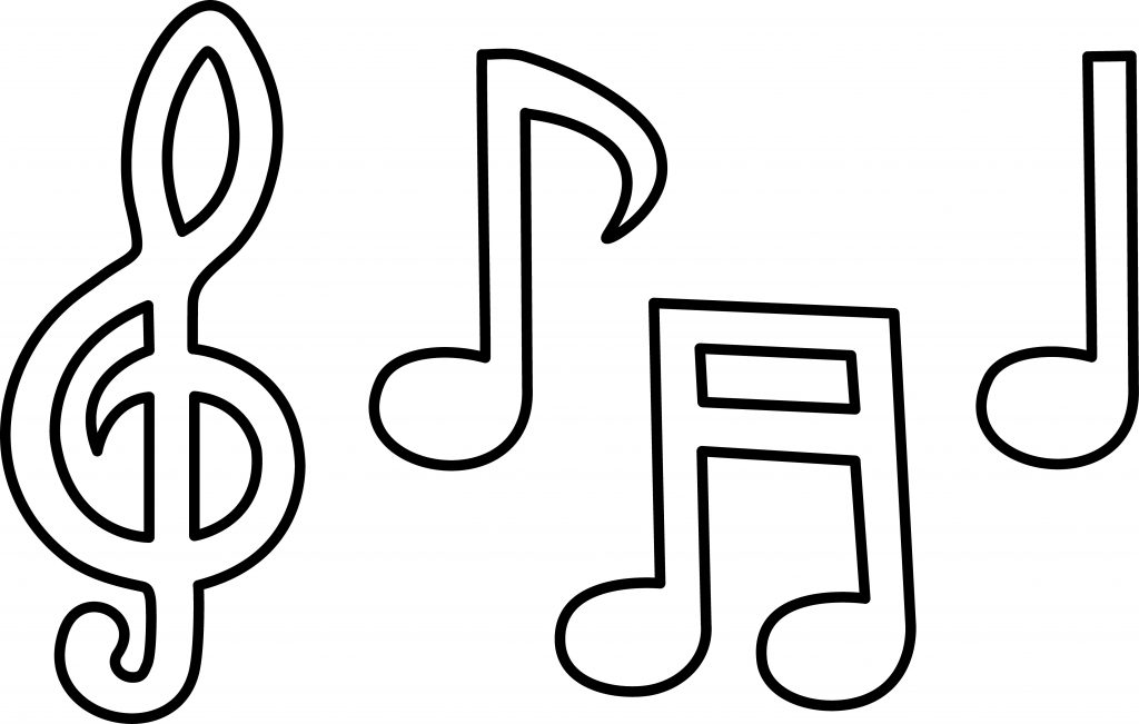 Simplicity image regarding printable music note