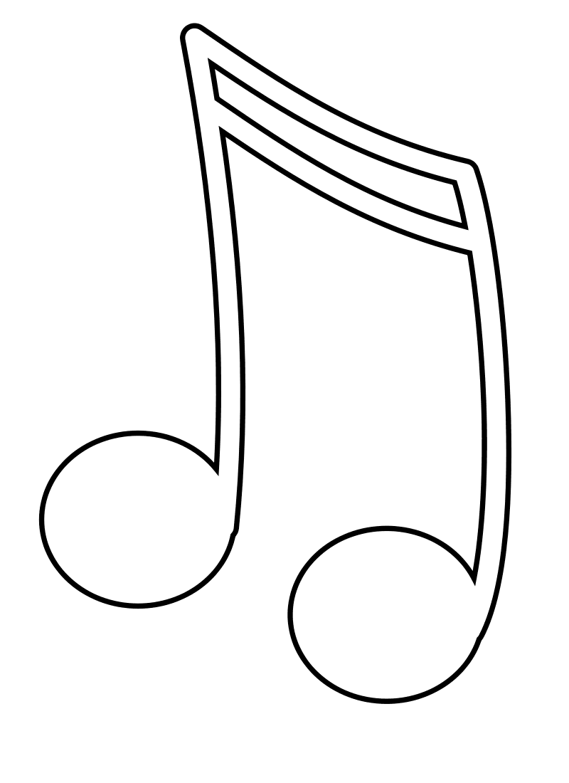 Music Note Coloring Pages To Print
